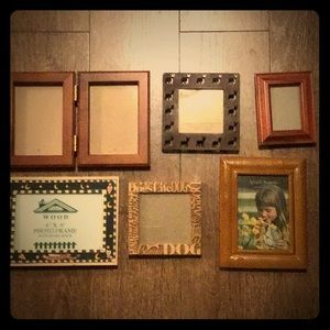 Gently used wooden frames